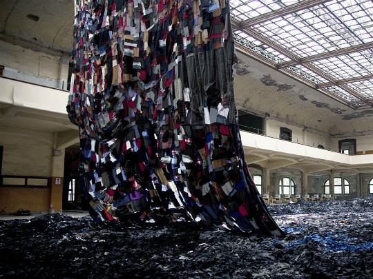 Композиция из текстильных отходов